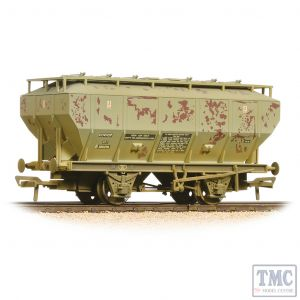 38-501A Bachmann OO Gauge Covhop Wagon 'Soda Ash' Light Grey - Heavily Weathered