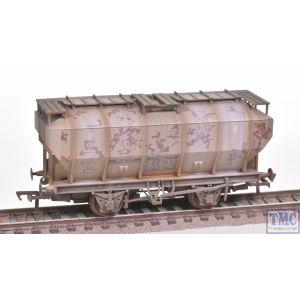 38-501A Bachmann OO Gauge Covhop Wagon 'Soda Ash' Light Grey - Heavily Weathered