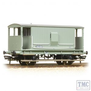 38-550A Bachmann OO Gauge Midland 20T Brake Van BR Grey (with Duckets)