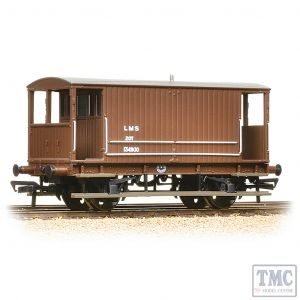 38-553A Bachmann OO Gauge Midland 20T Brake Van LMS Bauxite (without Duckets)