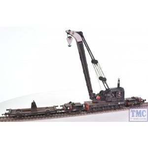 38-802 Bachmann OO Gauge Ransomes & Rapier 45T Steam Breakdown Crane BR Black (Early Emblem)