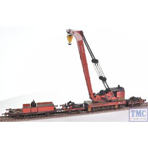 38-803 Bachmann OO Gauge Ransomes & Rapier 45T Steam Breakdown Crane BR Departmental Red