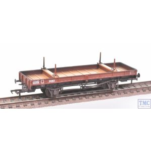 38-825Z Bachmann OO Gauge Double Bolster Wagon, Freight Brown Livery B920055 Weathered by TMC