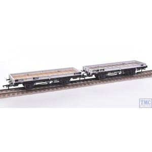 38-827Z Bachmann OO Gauge Plate ex Double Bolster Wagons Twin Pack Freight Grey livery E310418/B920098