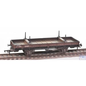 38-828Z Bachmann OO Gauge Double Bolster Wagon LMS Bauxite livery no.726018 Weathered by TMC