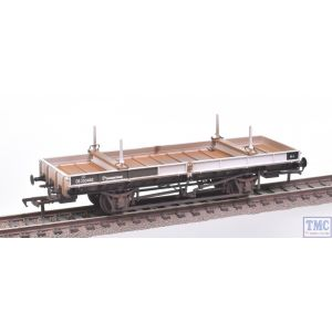 38-830Z Bachmann OO Gauge Double Bolster Wagon Olive Green/Freight Grey Livery DE250482 Weathered by TMC