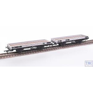 38-854Z Bachmann OO Gauge Plate Wagon Twin pack Freight Grey B930287/M498695