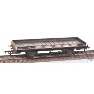 38-854ZA Bachmann OO Gauge Plate Wagon Freight Grey B931972 (RENUMBERED FREE) with Deluxe Weathering by TMC