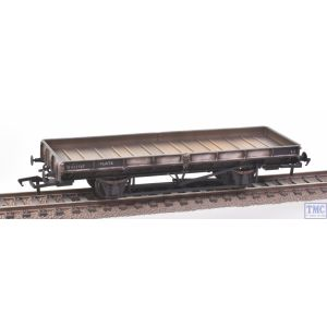 38-854ZB Bachmann OO Gauge Plate Wagon Freight Grey B931787 (RENUMBERED FREE) with Deluxe Weathering by TMC