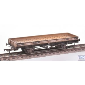 38-855Z Bachmann OO Gauge Plate Wagon Freight Grey E239992 with Extra Detail Weathering by TMC