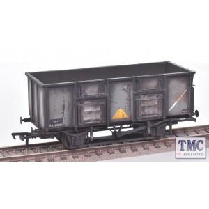 38-926Z Bachmann OO Gauge BR 24.5 Ton Mineral Wagon, B282087N, in BR Grey Livery with Pressed Side Doors, Spindle Buffers & Oil Axleboxes