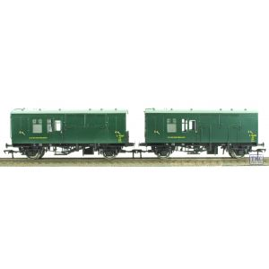 38-528Y Bachmann OO/HO Scale SR Green Horse Box S96402 & S96367 (Twin)