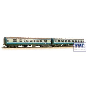 39-001 Bachmann OO Gauge Mk1 Coach Pack 'Works Test Train' BR Blue & Grey Weathered