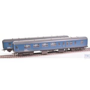 39-002 Bachmann OO Gauge BR Mk2A BFK 2-Coach Pack 'HST Barrier Vehicle' BR Blue