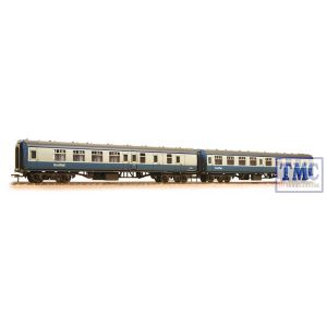 39-004 Bachmann OO Gauge BR Mk1 BSK & SK 2-Coach Pack BR Blue & Grey (ScotRail) - Weathered - Includes Passenger Figures