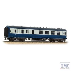 39-462 Branchline OO Gauge LMS 57ft 'Porthole' Brake Second Corridor BR Blue & Grey