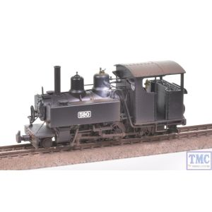 391-026 Bachmann OO9 Narrow Gauge Baldwin Class 10-12-D 590 Welsh Highland Black with Glossy Extra Detail Weathering by TMC