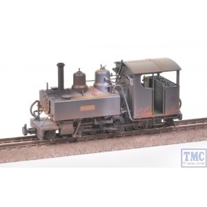 391-028 Bachmann OO9 Narrow Gauge Baldwin Class 10-12-D Hummy Ashover Black with Deluxe Weathering by TMC