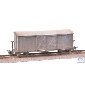 393-025 Bachmann OO9 Narrow Gauge Covered Goods Wagon WW1 WD Grey Extra Detail Weathering by TMC