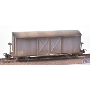 393-025A Bachmann OO9 Narrow Gauge Bogie Covered Ambulance Van WD Grey