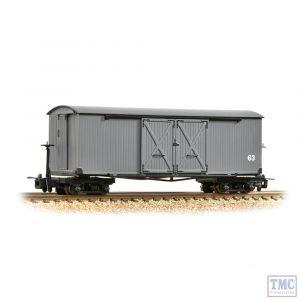393-026 Bachmann OO9 Narrow Gauge Covered Goods Wagon 'Nocton Estates' Light Grey
