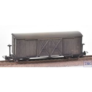 393-026A Bachmann OO9 Narrow Gauge Bogie Covered Goods Wagon Nocton Estates L. R. Grey - Weathered