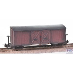 393-027 Bachmann OO9 Narrow Gauge Bogie Covered Goods Wagon Lincolnshire Coast L. R. Crimson