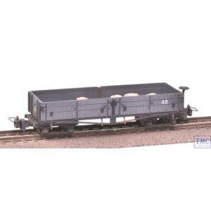 393-051 Bachmann OO9 Narrow Gauge Open Bogie Wagon Nocton Light Grey *Potato Sack Load* Weathered by TMC