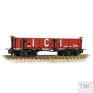 393-056 Bachmann OO9 Narrow Gauge Open Bogie Wagon 'ICI' Red