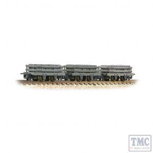 393-075 Bachmann OO9 Narrow Gauge Slate Wagons 3-Pack Grey With Slate Load - Weathered