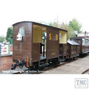 393-101 Bachmann OO9 Narrow Gauge RNAD Open-End Brake Van Statfold Barn Railway Brown