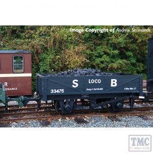 393-150 Bachmann OO9 Narrow Gauge RNAD Rebuilt Open Wagon Statfold Barn Railway Grey