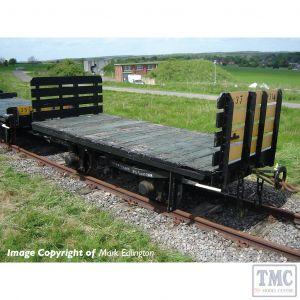 393-175 Bachmann OO9 Narrow Gauge RNAD Flat Wagon Planked Ends RNAD Dean Hill With Sleeper Load - Includes Wagon Load