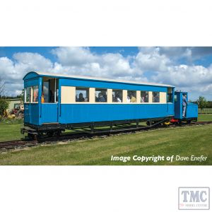 394-026 Bachmann OO9 Narrow Gauge Gloucester Bogie Coach Lincolnshire Coast L. R. Blue & Cream