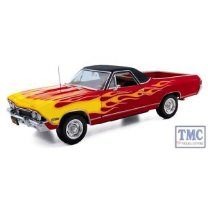 40-0289 First Gear 1:25 SCALE 1968 Chevrolet el Camino Red with Flames