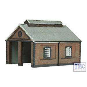 42-0001 Scenecraft N Gauge Two Road Brick Engine shed