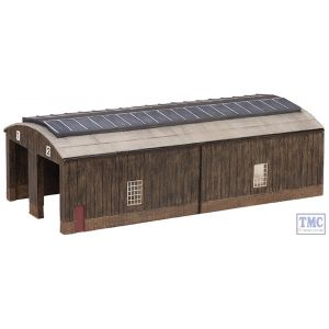 42-0035 Scenecraft N Gauge Wooden Carriage Shed