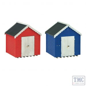 42-0080 Scenecraft N Gauge Beach Huts (x2)