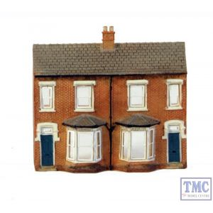 42-202 Scenecraft N Gauge Low Relief Front Terraced Houses