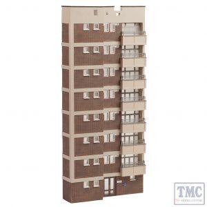 42-265 Scenecraft N Gauge Low Relief Block of flats