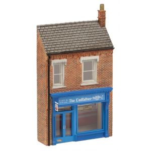 42-266 Scenecraft N Gauge Low Relief The Cod Father Fish & Chip Shop