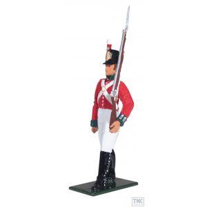B44049 W.Britain Private 49th Foot Battalion Company, 1806-1812 Regiments Classic Collection 18th-19th c.
