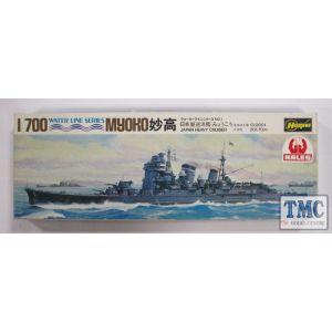 Hasegawa 1/700 Water Line Series Myoko Heavy Cruiser Kit No 1 (Pre owned)