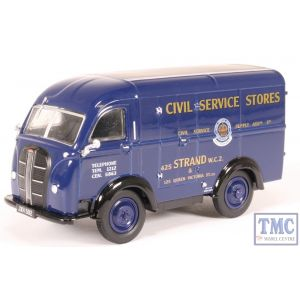 43AK017 Oxford Diecast O Gauge Austin Threeway Van Civil Service Stores