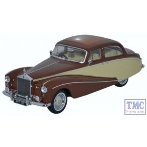 43EMP001 Oxford Diecast 1:43 Scale O Gauge Rolls Royce Silver Cloud/Hooper Empress Brown/Cream