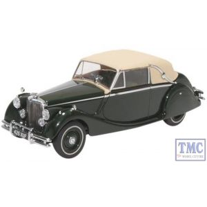 43JAG5002 Oxford Diecast Jaguar MkV DHC Closed British Racing Green