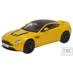43AMVT003 Oxford Diecast O Gauge Aston Martin Vantage S Sunburst Yellow
