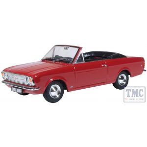43CCC003 Oxford Diecast  Ford Cortina Crayford Open Dragoon Red