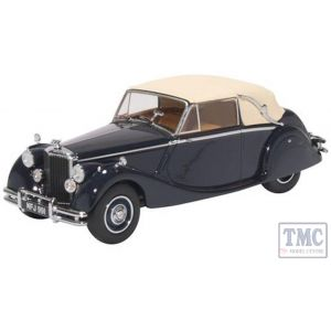 43JAG5003 1:43 Scale Oxford Diecast Jaguar MkV Closed Dark Blue/Tan