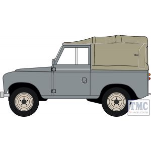 43LR3S003 Oxford Diecast O Gauge Land Rover Series III SWB Canvas Mid Grey